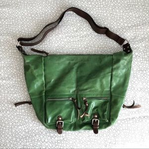 Tano Large Green Leather Bag